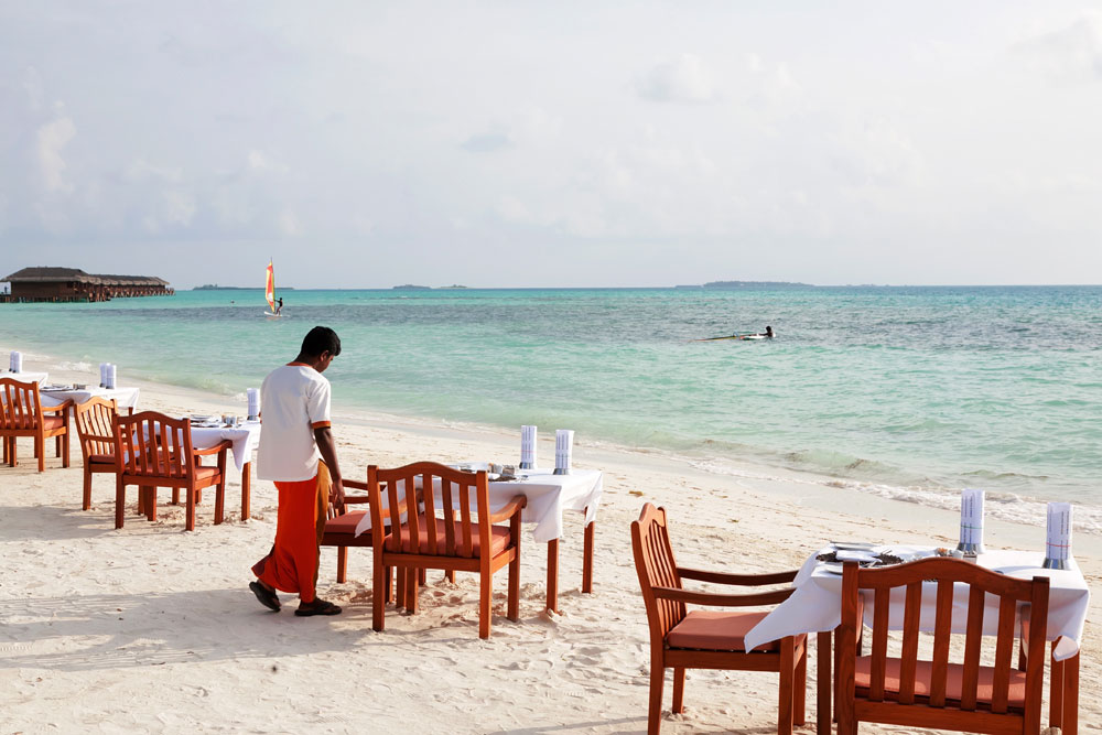 Strandrestaurant bij Medhufushi