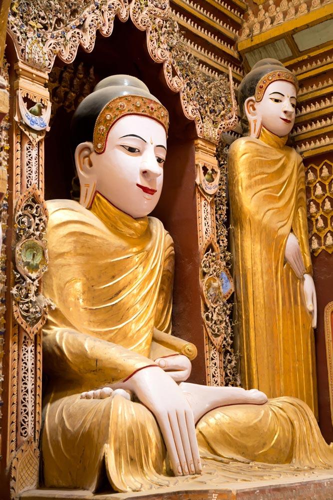 Thanboddhay tempel in Myanmar, rondreis, bezienswaardigheden, Birma