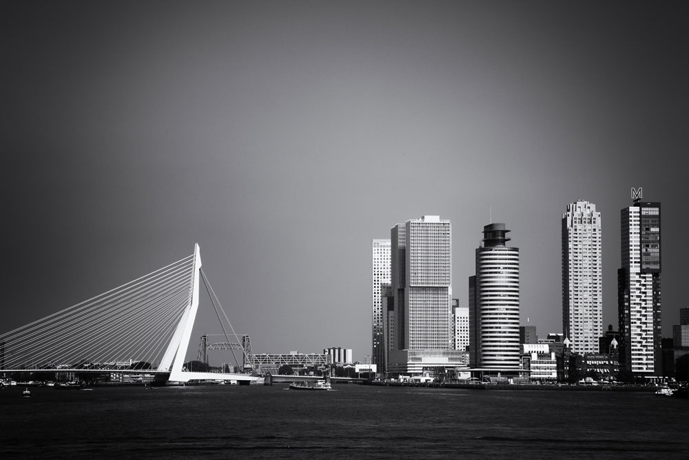 Skyline van Rotterdam, Nederland