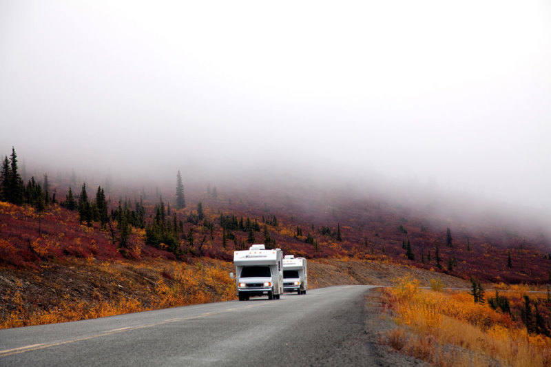 Top of the World Highway in Yukon, Canada. rondreis, camperreis, camper, huren,