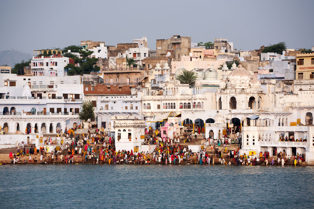 Kartik Purnimafeest in Pushkar, Rajasthan, India