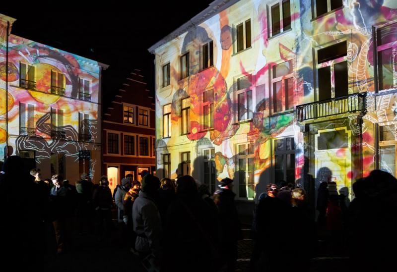 Lichtfestival Gent Belgie Claudia Reh - Echtzeitlicht