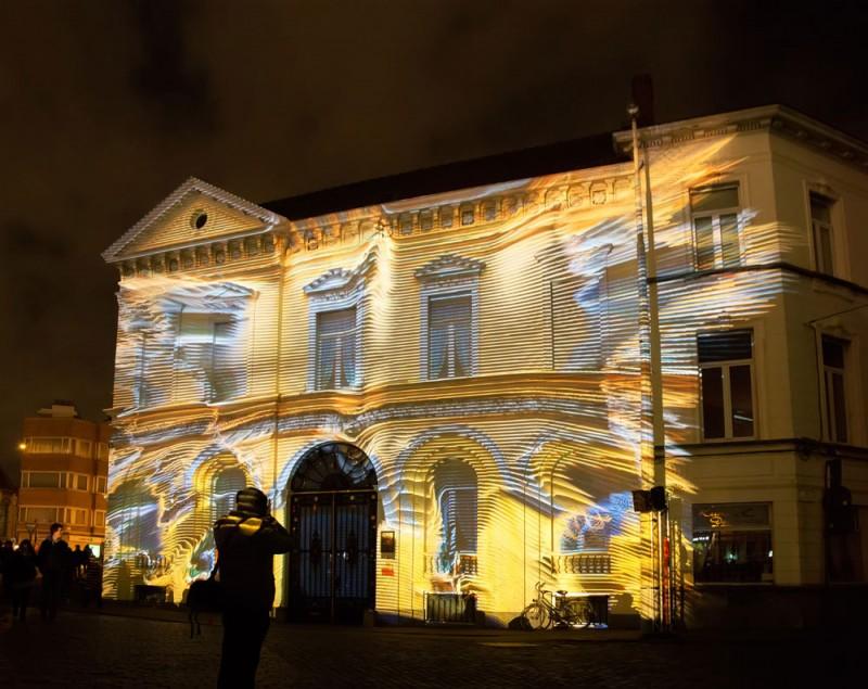 Lichtfestival Gent Belgie Klaus Obermaier - Dancing House