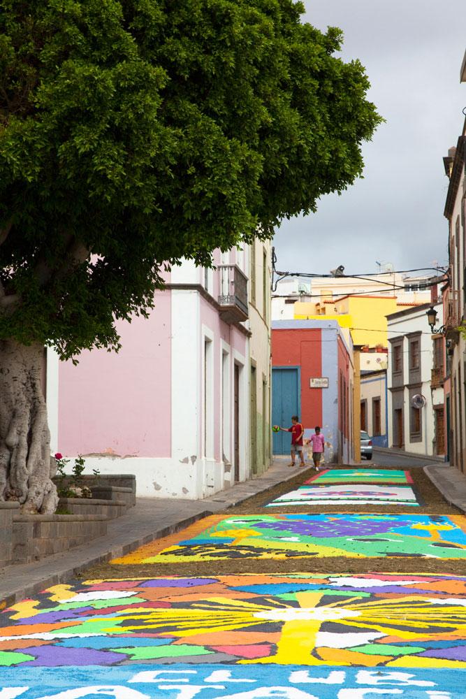 vakantie Gran Canaria, Enkele dagen per jaar zijn de straten in Guia echte bezienswaardigheden