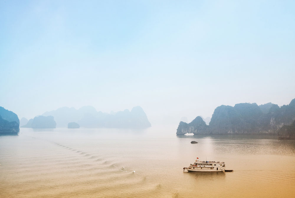 Mist over Halong Bay, Vietnam