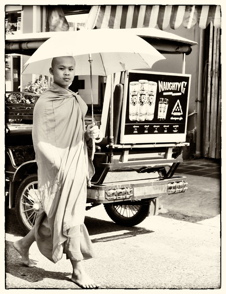 Cruise Azie: Sihanoukville, Cambodja, monniken