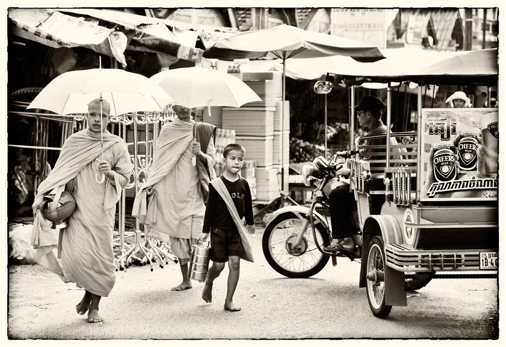 Sihanoukville, Cambodja, monniken