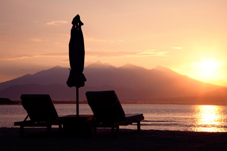 Gili Trawangan, Indonesie, sunset