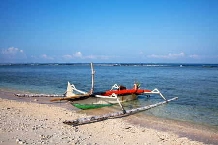 Gili Trawangan, Indonesie, outrigger boot