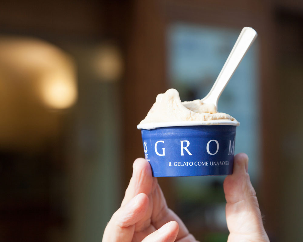You get the best ice cream at Grom, Italy, Torino, Turin