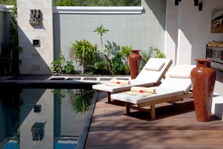 Prive villa bij Kokomo resort op Gili Trawangan, Indonesie.