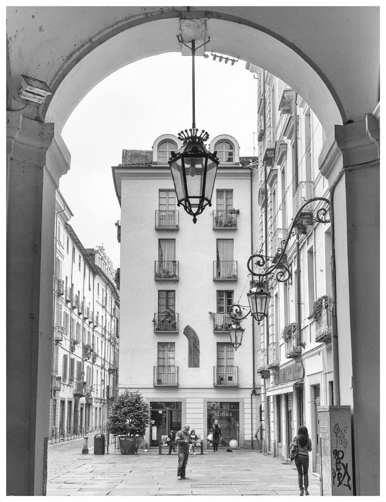 Street life in Torino, Italy, Turin,