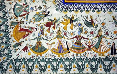 Shekhawati, Rajasthan, India, Jhunjhunu, fresco