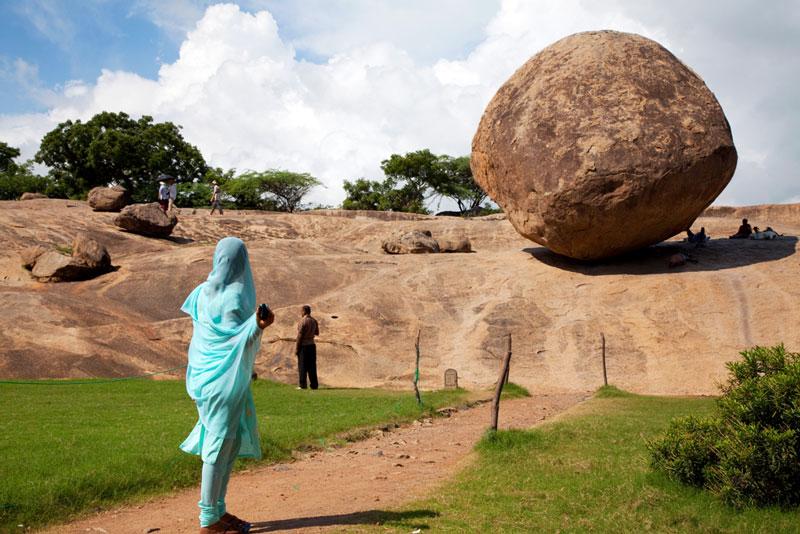 Mamallapuram, India en de magische steen
