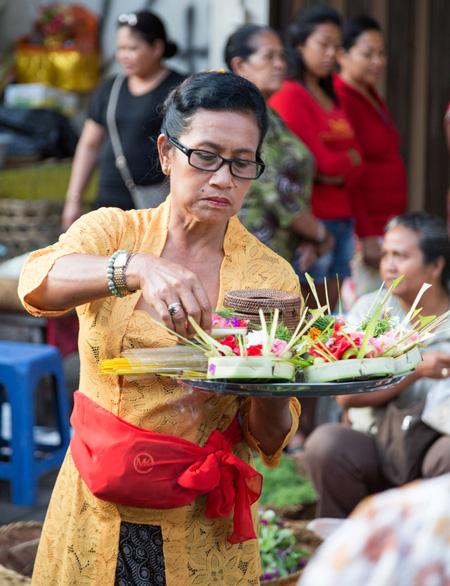 Ubud, Bali, Indonesie: 's morgens vroeg op de markt