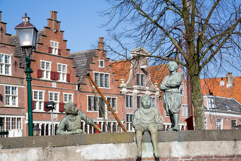 Hoorn Nederland Bontekoe standbeeld