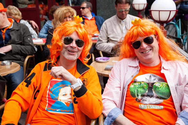 Koningsdag in stijl in Amsterdam. Koningsdag, koninginnedag, vieren, typisch Hollands, Nederland, vieren, feest, festival, Amsterdam, oranje,