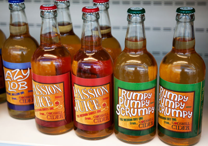 For sale: local cider at the Isle of Wight, England