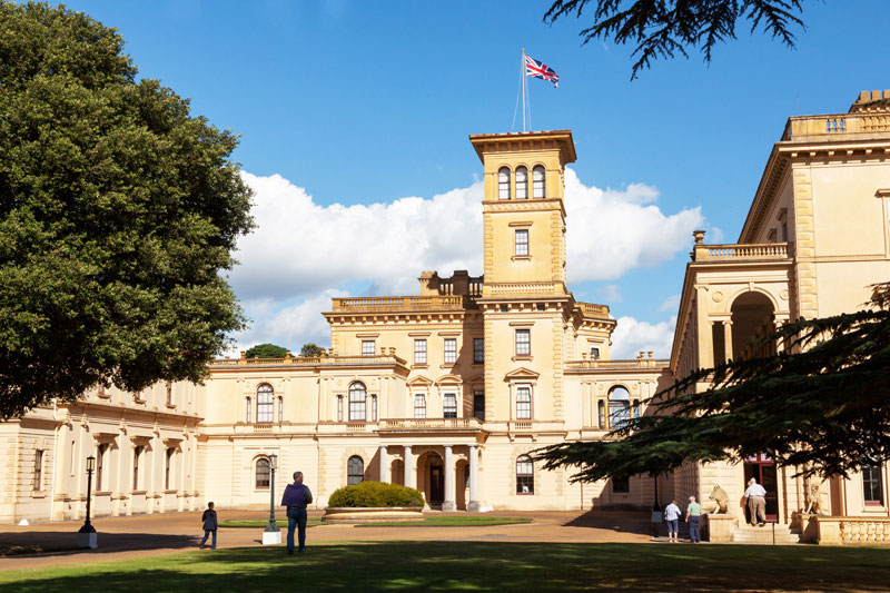 The family house of Queen Victoria: Osbourne House, Isle of Wight, Engeland