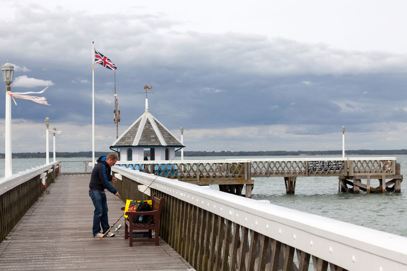 The pier of Yarmouth, Isle of Wight, England, cycling holiday
