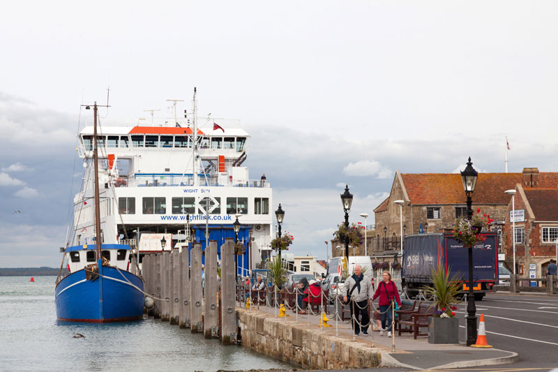 The ferry of Yarmouth, Isle of Wight, England