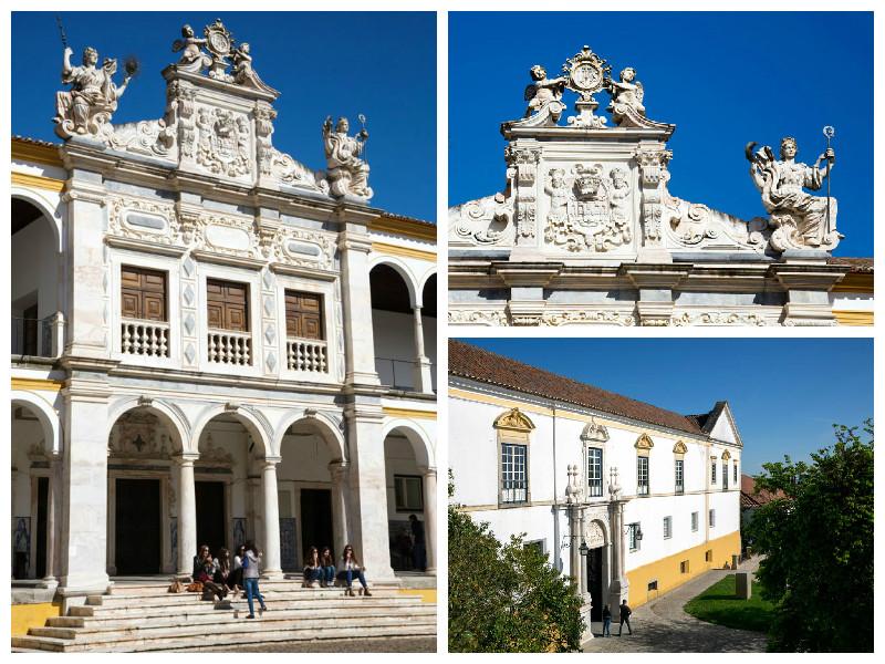 De universiteit van Evora, Alentejo, Portugal