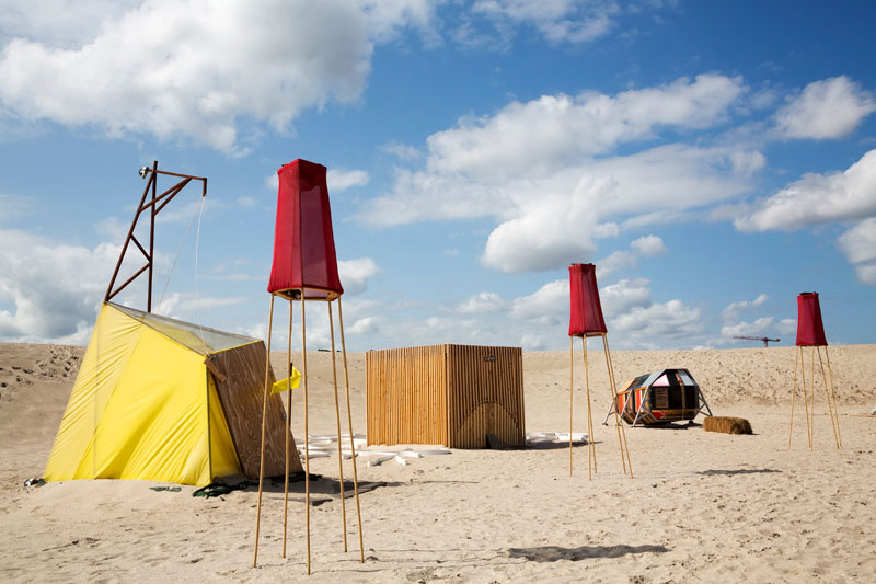Urban Campsite bij stadsstrand Blijburg in Amsterdam