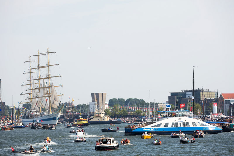 Sail out in Amsterdam, tot over vijf jaar!