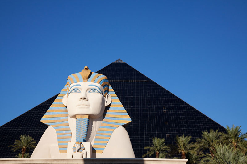 Hotel Luxor in Las Vegas, USA, piramide