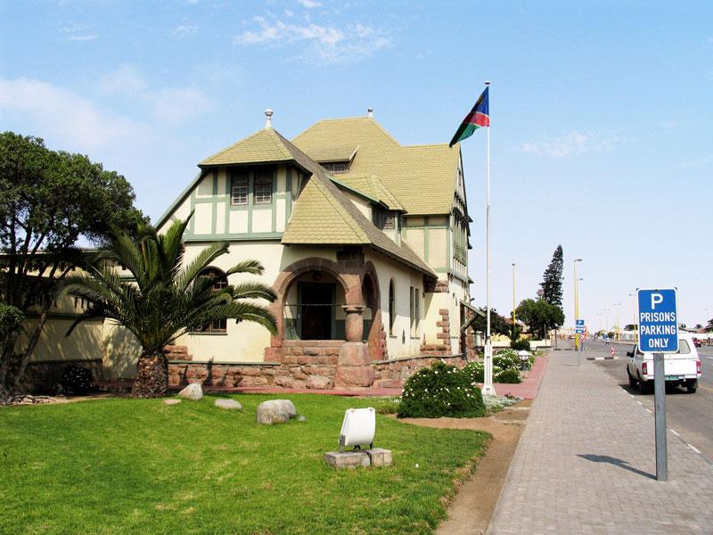 Bijzondere bebouwing in Swakopmund, Namibie, Afrika.