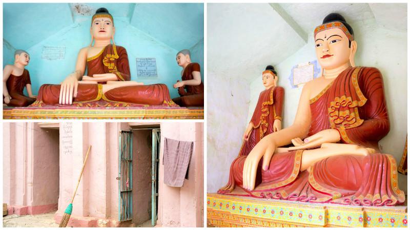 Shwe Ba Taung pagode in Myanmar