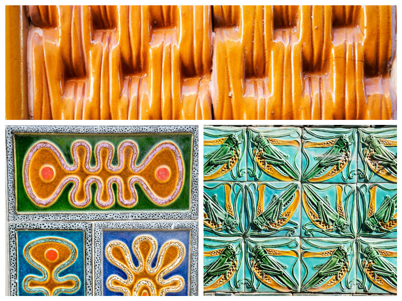 You will always find new types of tiles in Caldas da Rainha, portugal
