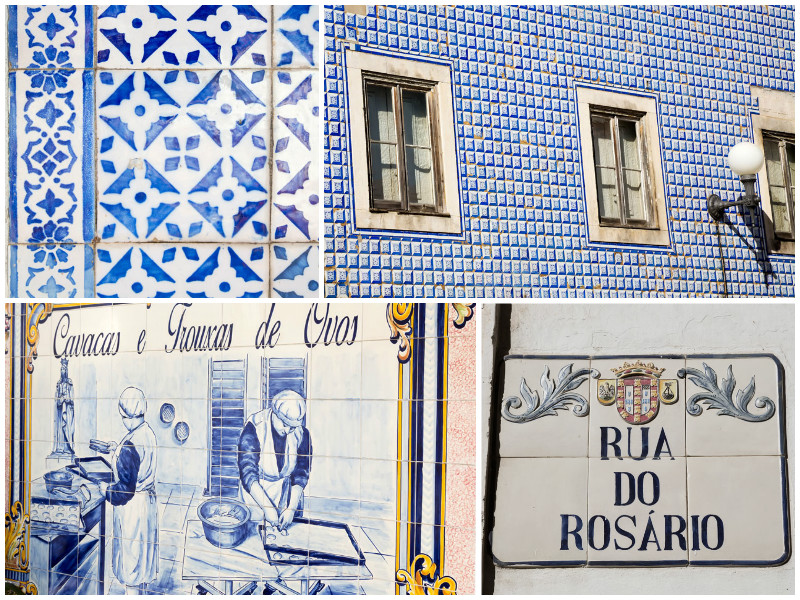Even the nameplates are made of ceramics in Caldas da Rainha