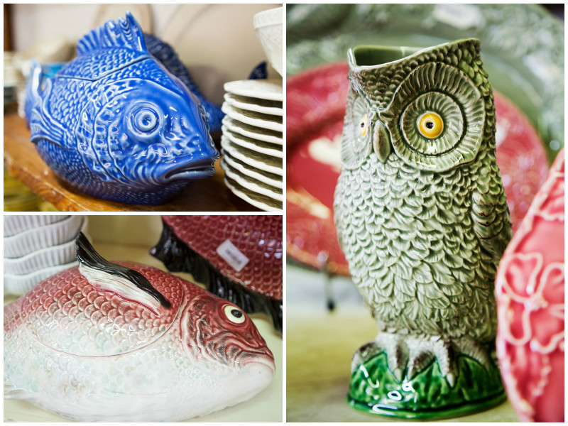 Animal figures in ceramics in Caldas da Rainha