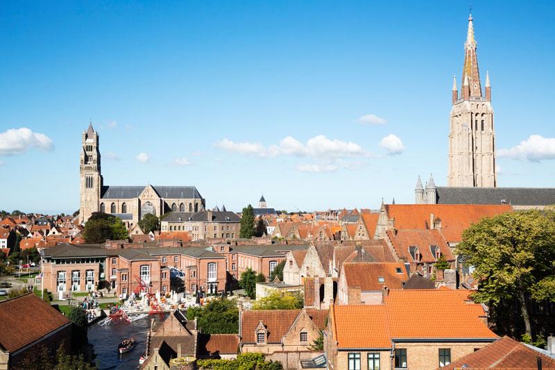 Overzicht over Brugge, Belgie