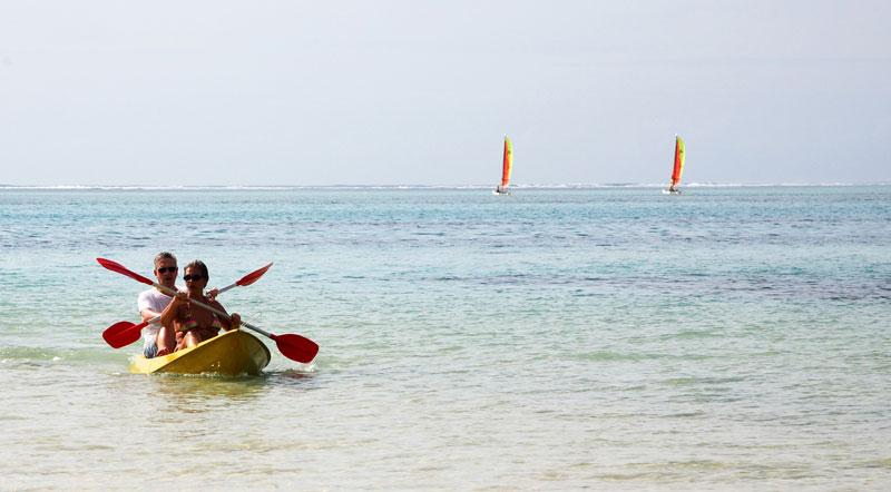 Watersporten bij hotel Paradis op Mauritius