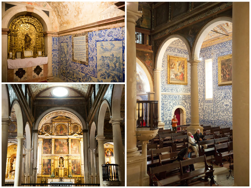 A church full of tiles in Obidos, Portugal