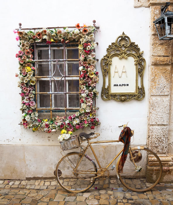The shopping street of Obidos, Centro de Portugal