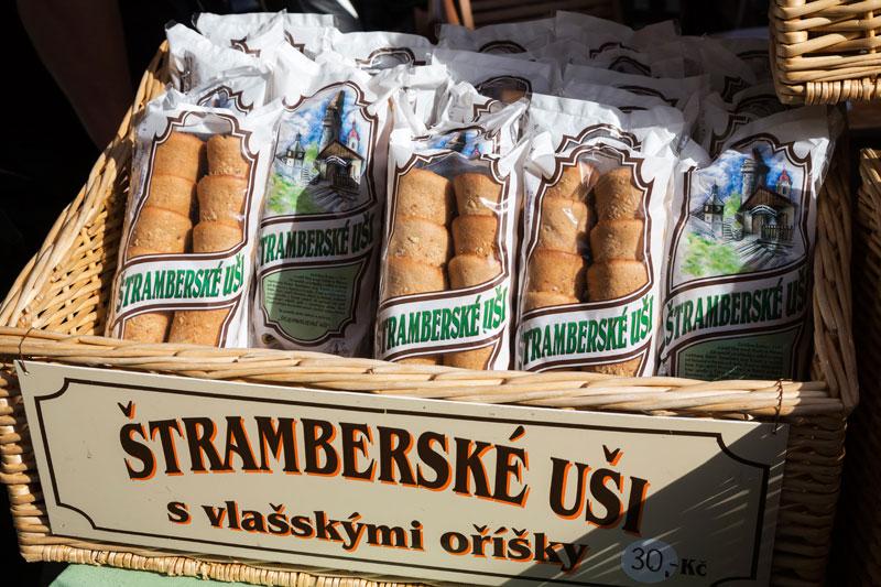 De beroemde Stramberk oren. Ze smaken een beetje naar taaitaai.