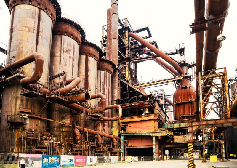 De oude ijzerfabriek NKP Dul Hlubina in Dolni Vitkovice, Ostrava, Moravie, Tsjechie