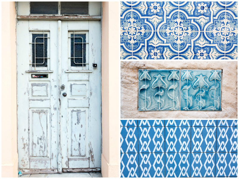 The azulejos in Aveiro, Portugal