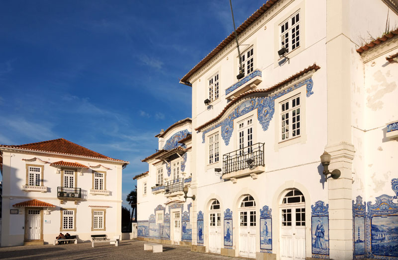 The very nice station in Aveiro, Portugal