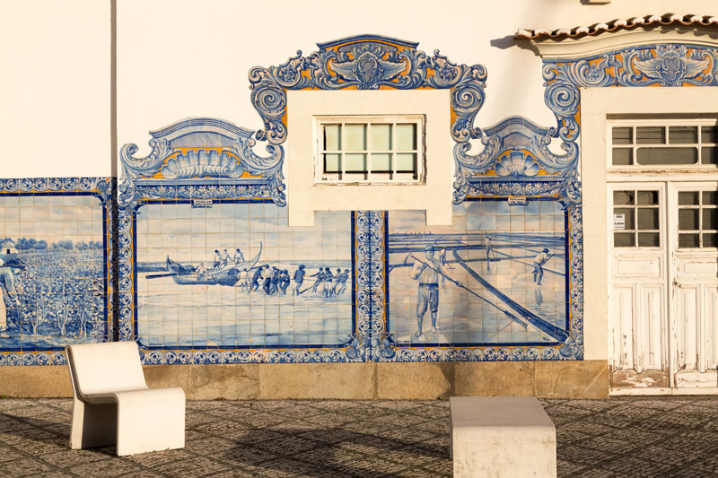 Tile picture at the station in Aveiro, Portugal