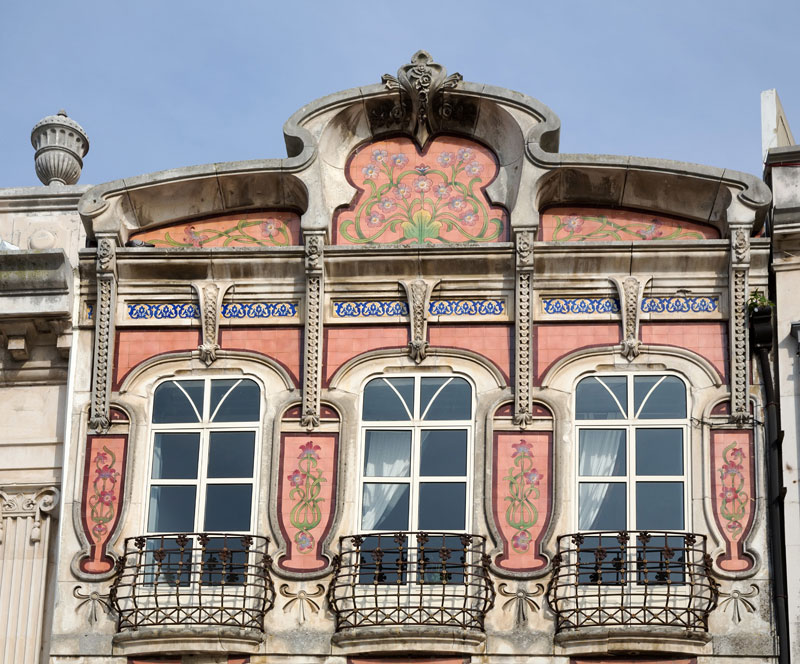Art nouveau house and a museum in Aveiro, Portugal