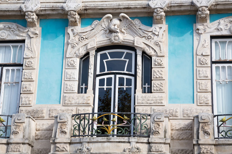 Art nouveau-huis in Aveiro, Portugal