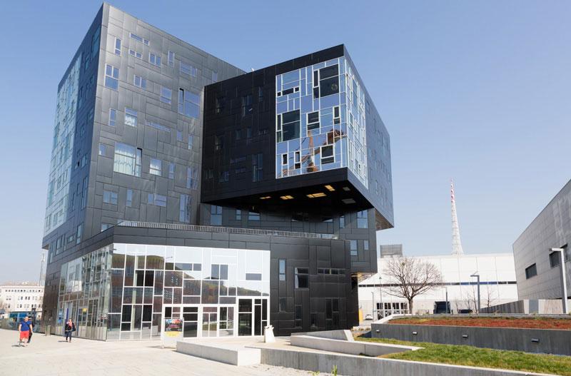 Prachtige architectuur op de campus van Wenen, Oostenrijk