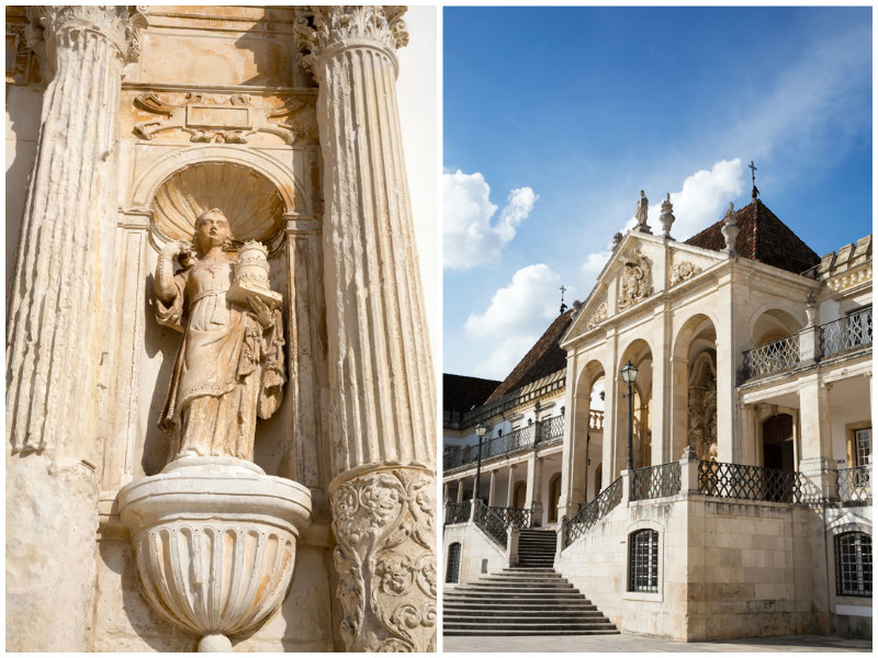 The classic university buildings of Coimbra, Portugal.