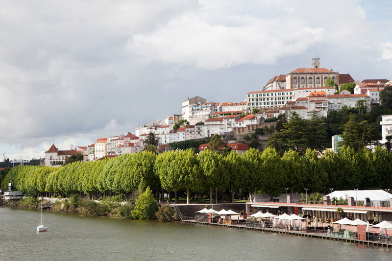 View of the beautiful city of Coimbra, Portugal