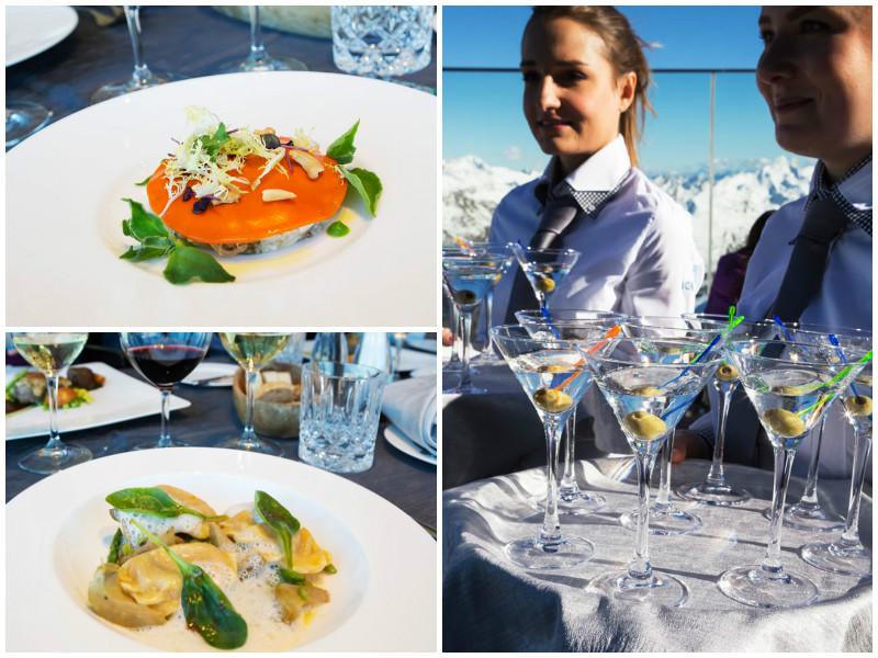 IceQ restaurant op de Gailachkogl in Solden, Oostenrijk. een van de filmlocaties van James Bond film Spectre.