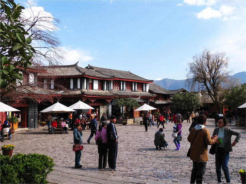 UNESCO stad Lijiang in de provincie Yunnan in China.